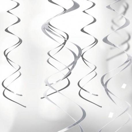 Serpentin gris à suspendre X 5