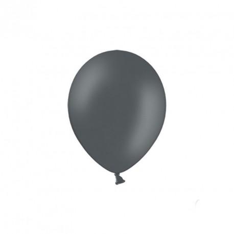 100 petits ballons gris foncé 12 cm