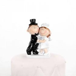 Figurine de mariage pas cher couple heureux