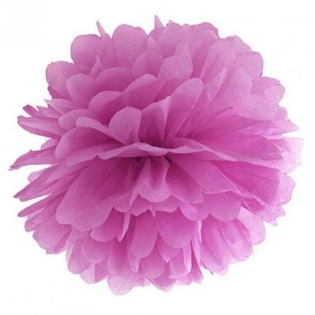 Pompon prune 35 cm