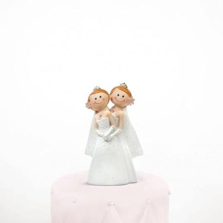 Figurine mariage lesbien humoristique
