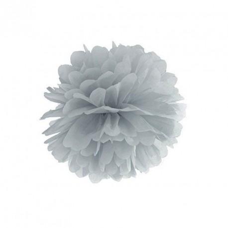 Pompon gris 25 cm