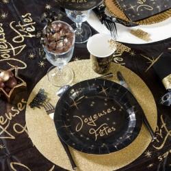 10 Assiettes rondes joyeuses fêtes