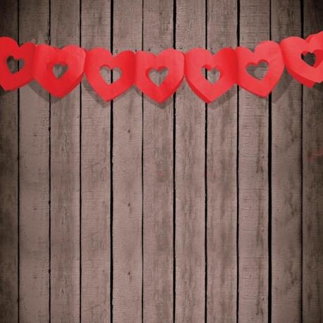 Guirlande mariage cœur rouge