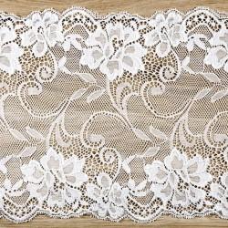 Chemin de table dentelle blanche 9 m x 18 cm