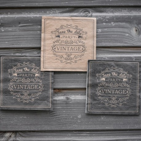 20 serviettes de table vintage