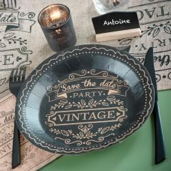 10 Assiettes jetables vintage