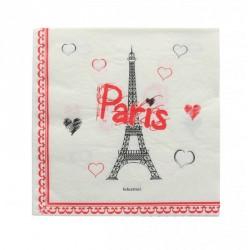 10 serviettes de table tour Eiffel