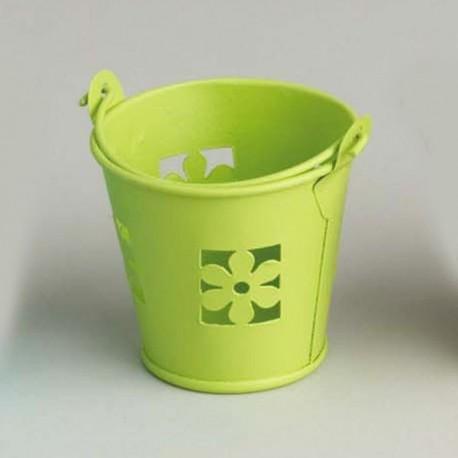 Sceau  vert à dragées en métal  boites à dragées mariage