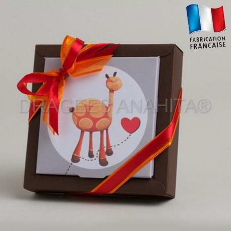 Emballage à dragées thème girafe