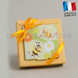 Emballage à dragées thème abeille