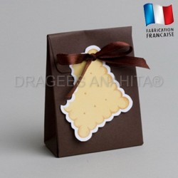 Pochon à dragées biscuit