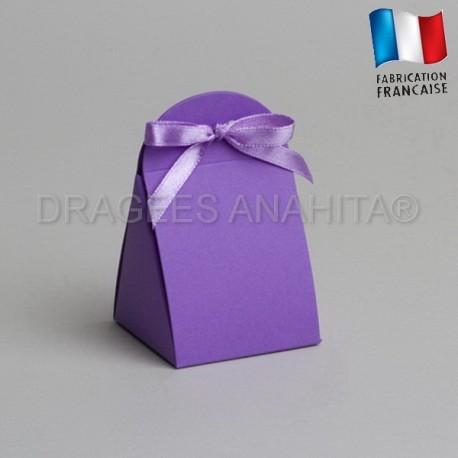 pochon à dragées couleur lilas