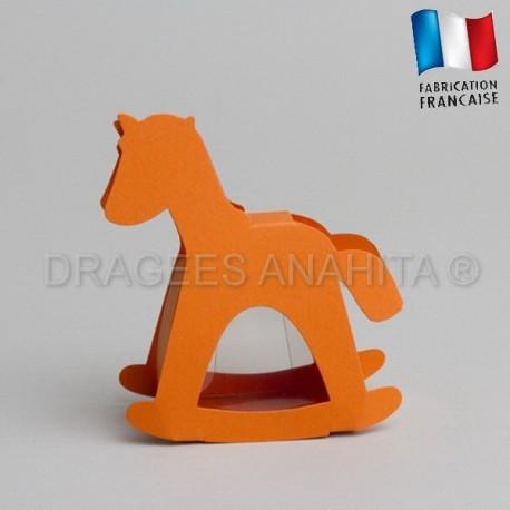 dragées baptême cheval orange