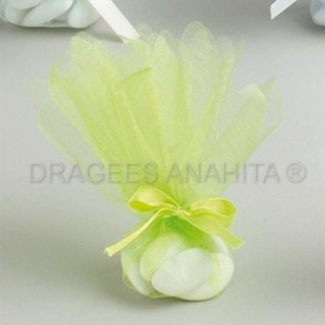 Tulle à dragées de couleur vert foncé tulle à dragées pour mariage