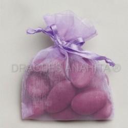 Sac organza lilas