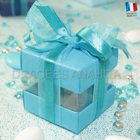 Cube à dragées turquoise