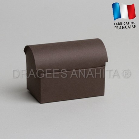 Coffre à dragées chocolat