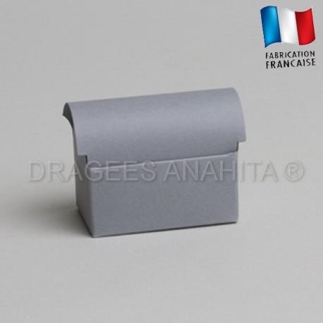 Mini coffre à dragées gris