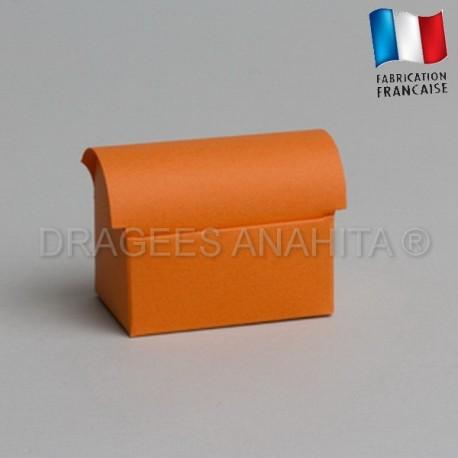Mini coffre à dragées orange