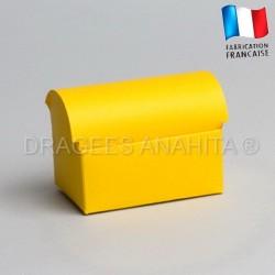 Coffre à dragées jaune