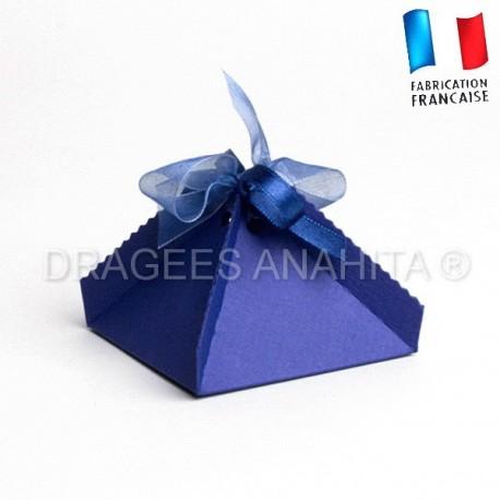 Boite dragées pyramide marine
