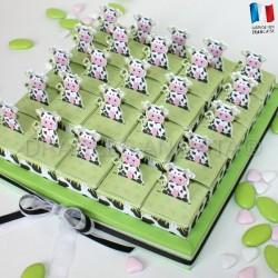 Kit 25 cubes à dragées vache + socle
