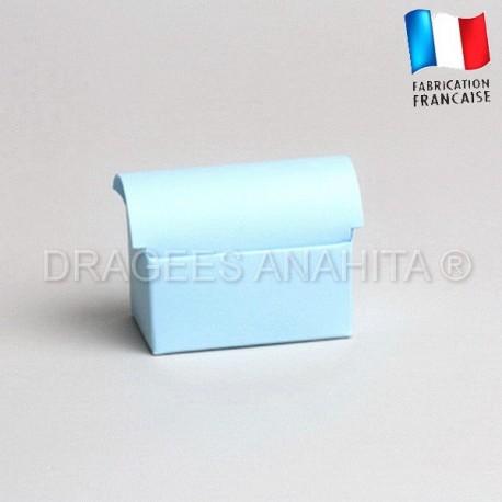 Mini coffre à dragées bleu ciel