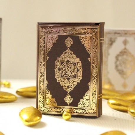 Mini Coran marron et or