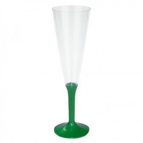 Flûte à Champagne verte x10