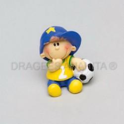 Footballeur en céramique x2