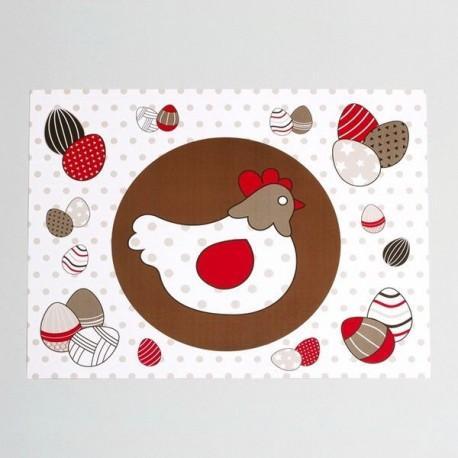 12 Sets de Table Poule de Pâques
