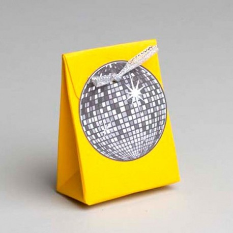 Boite dragées Disco jaune