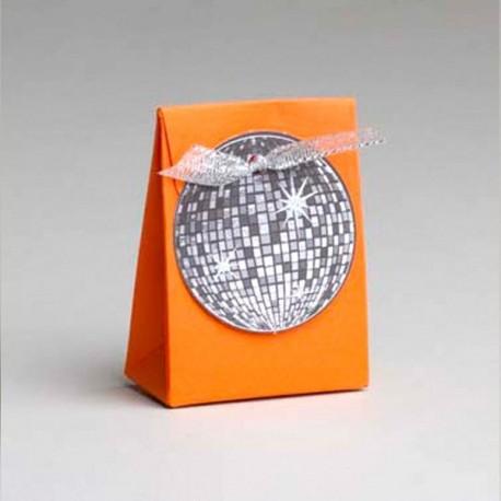 Boite dragées Disco orange