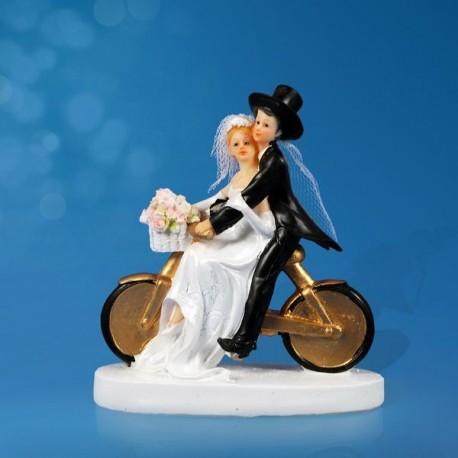 Figurine gâteau de mariage Vélo