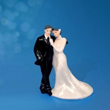 Figurine gâteau de mariage tête à tête