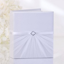Livre d'or mariage strass et tulle