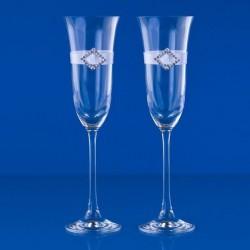 Flûtes à Champagne pour mariés Strass