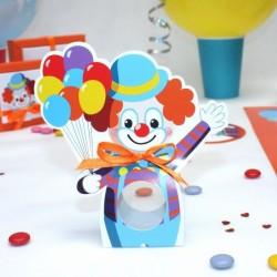 Contenant à dragées Clown