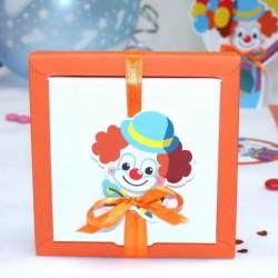Grande boite à dragées clown