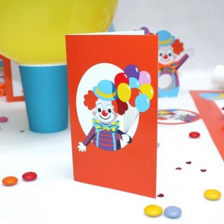 Carte Invitation Clown