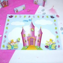 Set de table chateau de princesse