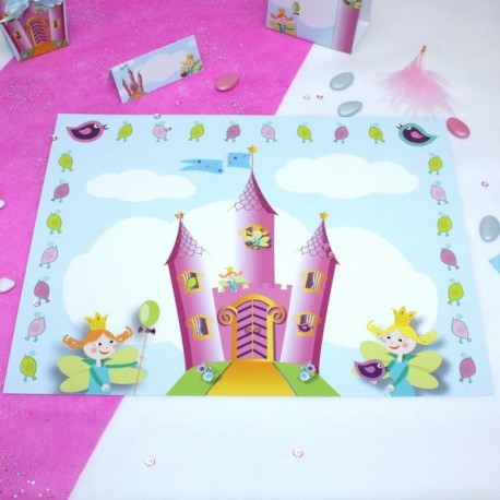 Set de table chateau de princesse