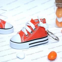 2 Baskets à dragées orange avec porte clés