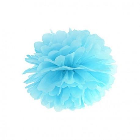Pompon bleu ciel 25 cm