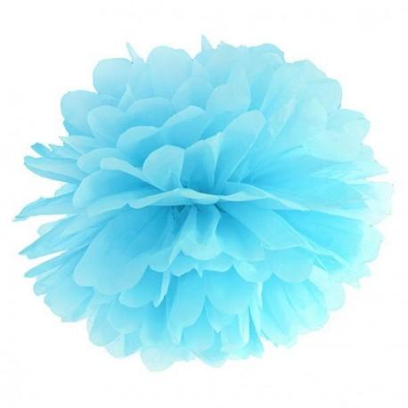 Pompon bleu ciel 35 cm