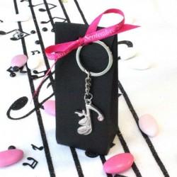 2 portes clés note de musique
