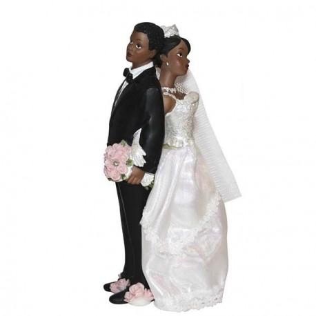 Figurine noire pour mariage 17 cm
