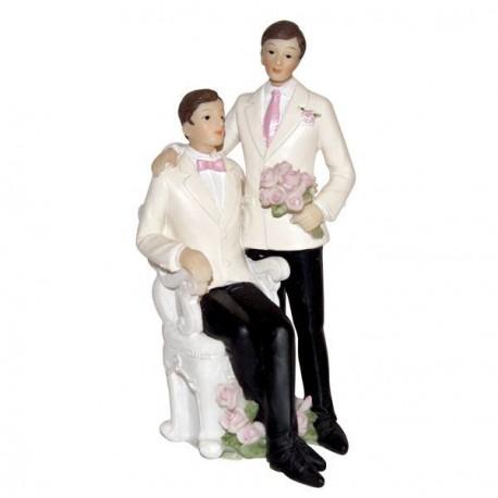 Figurine mariage gay 13cm