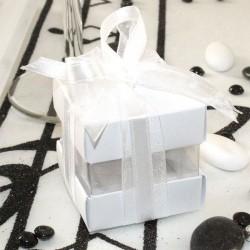Cube à dragées blanc